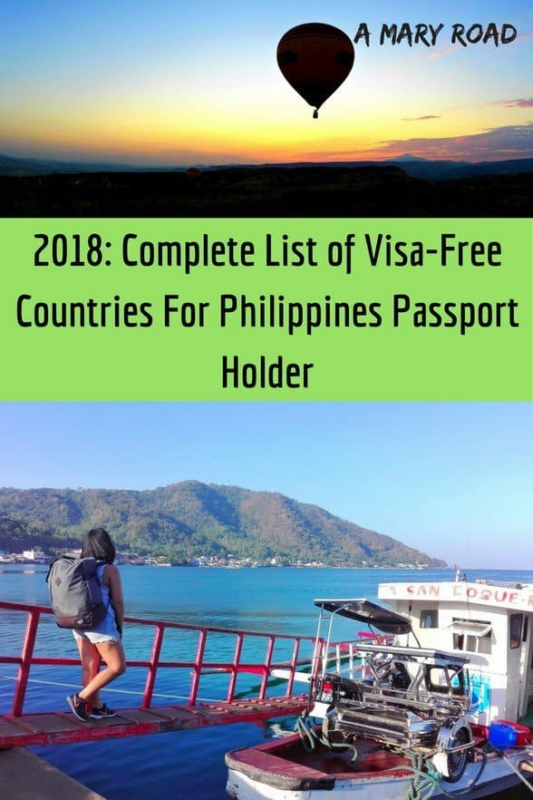 Complete List of Visa Free Countries For Philippines Passport Holder