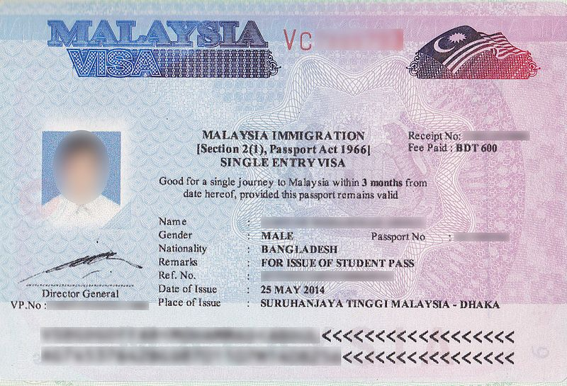 malaysia visa guide - visa