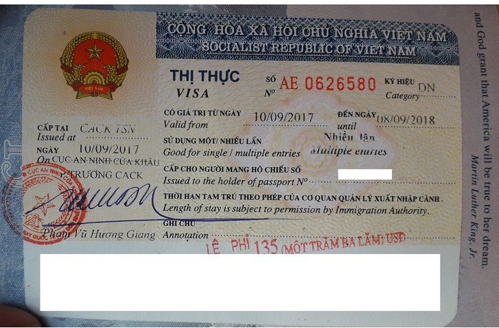 Visa Free Countries For USA Passport Holders - Vietnam visa