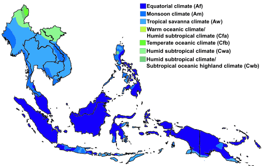 Southeast Asia Climate Map