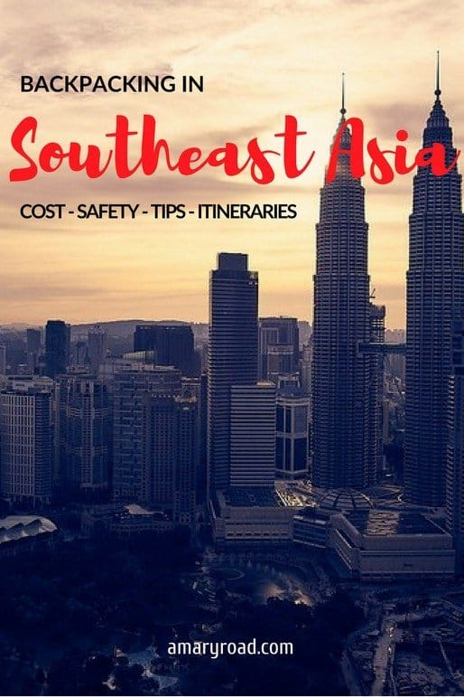 Here is a complete guide for backpacking in Southeast Asia; itineraries, costs, safety, travel route, budget, visa, weather, transportation, dress code, and tips. #backpackinginsoutheastasia #shoetringbudgetsoutheastasia #dresscodesoutheastasia