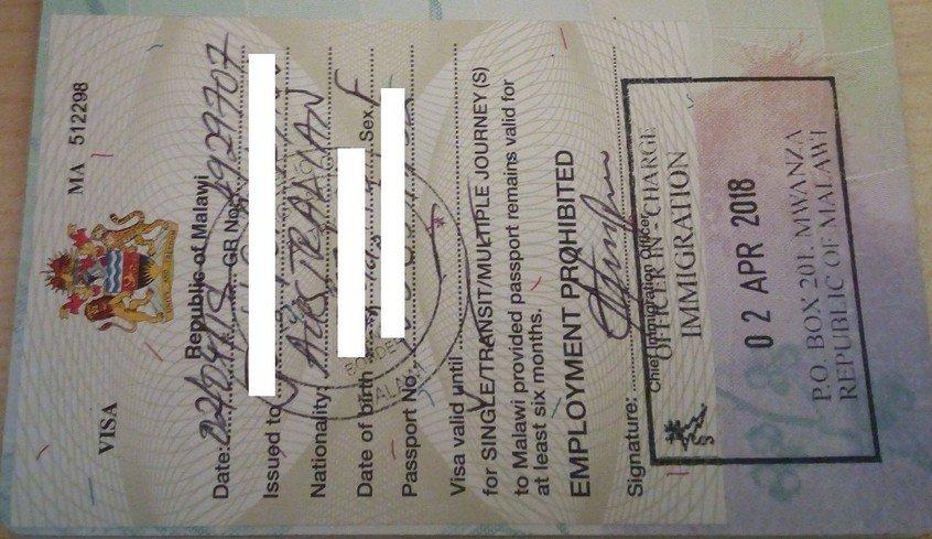 Australian Passport Visa Free Countries - Malawi