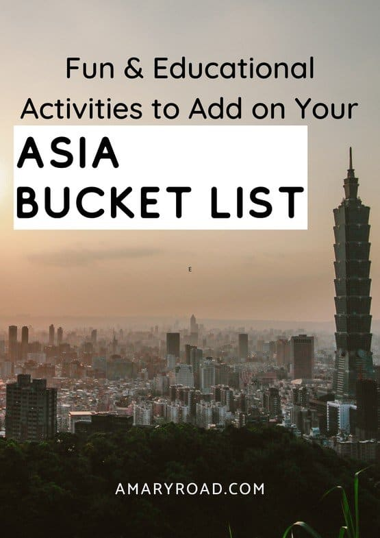 Here is a compilation of super fun, adventurous, and educational trips to add on your Asia bucket list. Plus costs, travel time, tips for Vietnam, Sri Lanka, Thailand, Cambodia, India, Myanmar, China, Philippines, Borneo #asiabucketlist #topthingstodoinasia #asiatours via @amaryroad