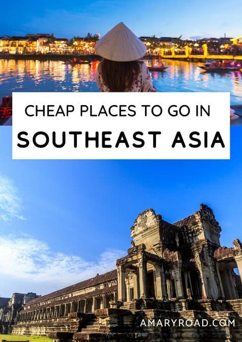 Here is a great guide on top destinations in Southeast Asia; most affordable places to go, cost of travel, visa guides, tours, and more! #southeastasia #cheaptravel #travelideas #traveldestinations #traveltips #travelbudget #travelideas #travelguide #amazingdestinations via @amaryroad