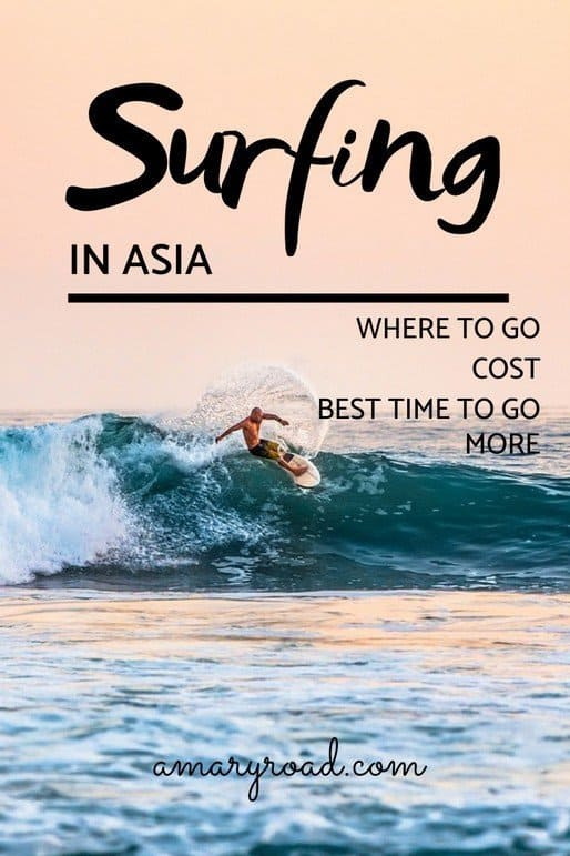 Don't know where to surf in Asia? Check out the best surfing spots in Asia, we  included the surfing level, average wave height, cost of renting a board or with teacher, best time to go, and more tips.