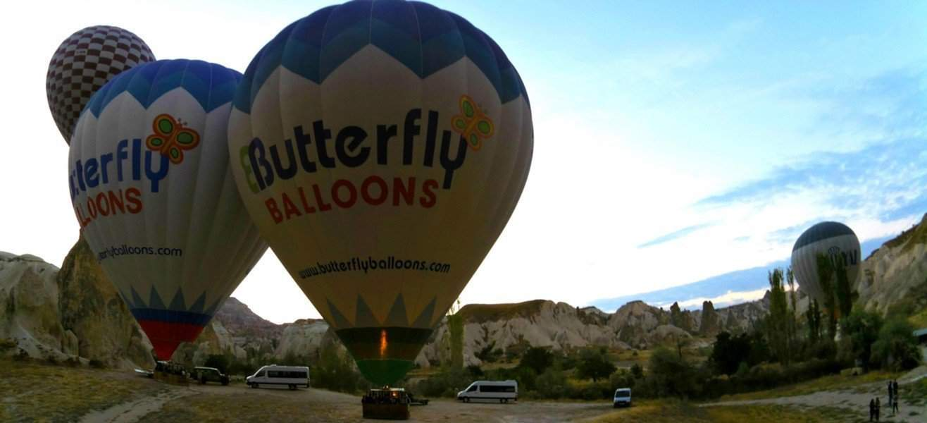 A Magical Experience in Cappadocia Hot Air Balloon With Butterfly Balloons