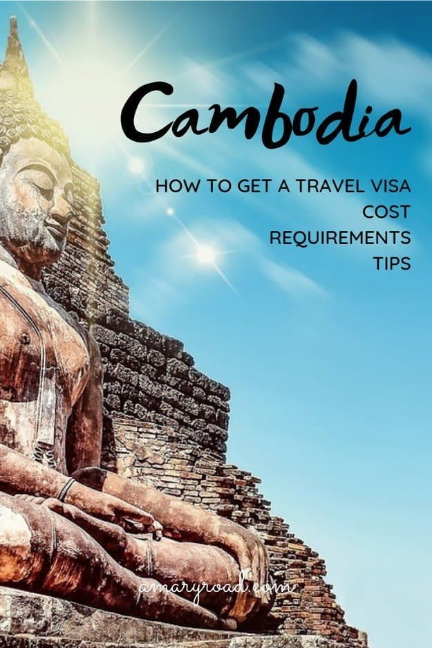 This Cambodia visa guide will help you understand if you need a travel visa to Cambodia, how to apply for one, how to get it online, what is the cost, and what are the requirements plus if you can extend your Cambodian visa. #cabodiavisa #visaincambodia #travelcambodia #amaryroad