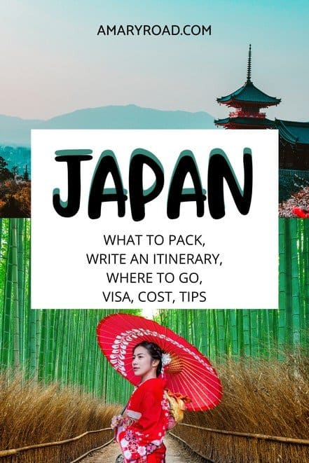 A comprehensive guide for Japan 3 week itinerary; travel visa, travel cost, packing, what to do, where to go, food to eat - 3 weeks in Japan #japantravel #traveltips #bucketlisttravel #travelideas #travelguide #amazingdestinations #traveltheworld via @amaryroad
