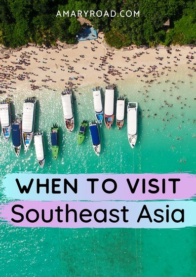 Don't know when to visit Southeast Asia? Here's a guide to when is the best time to travel to Southeast Asia. Find out when is the best time of the year to go according to season, peak reason, and holiday of each countries. #SoutheastAsia #Asiatraveltips #travelideas #staysafe #smarttravel via @amaryroad