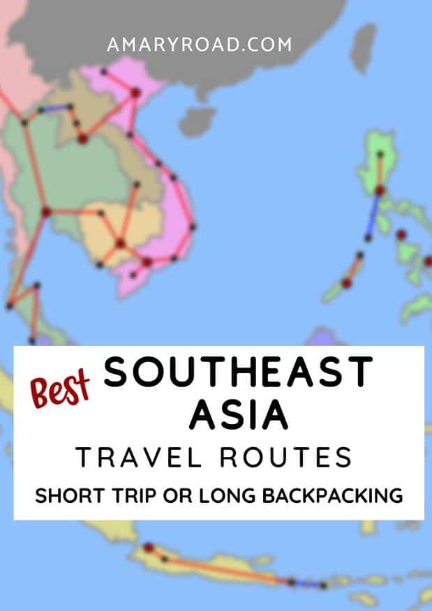 Are you planning your Southeast Asia itinerary? Check this very detailed Southeast Asia travel route; all compatible for 2 weeks, 4 weeks, 3 months or even 6 months trip. I also highlight the budget, safety and more! #Southeastasia #southeastasiaroute via @amaryroad