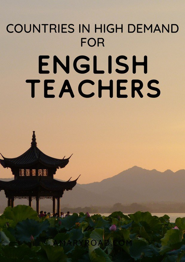 How to teach english and travel, here are the countries in high demand of english teachers, teach english online, teaching english, abroad without a degree. #teachingenglishabroad #esljobs via @amaryroad via @amaryroad