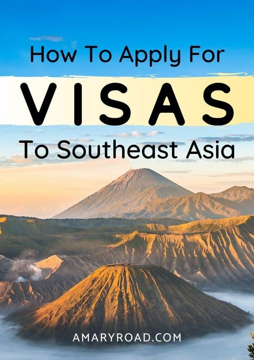 Here is an in-depth and complete guide for travel visas for Southeast Asia; find out how to apply, how much is the cost, and which countries you need a visa. #southeastasiavisa #visaguide #travelvisa #travelguide #southeastasia #asiatravel via @amaryroad